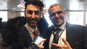 WEF 2019 visitors Arman Sarhaddar, CEO ofVault Security Systems AG, and Entrepreneur Bibop Gresta, Hyperloop Transportation Technologies