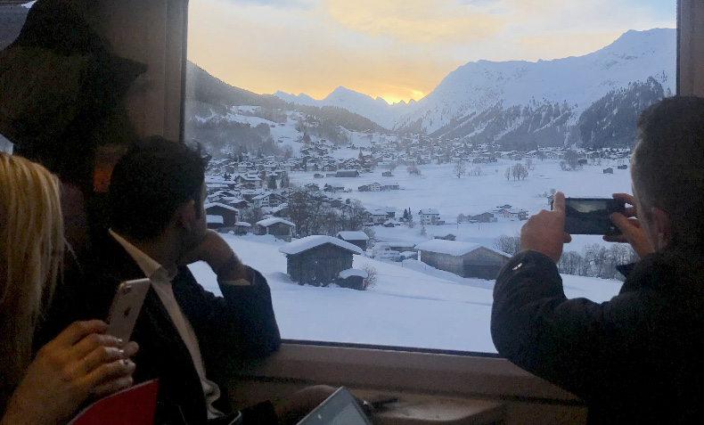iVAULT @WEFDavos 2019: The Vault Security Systems AG team enjoying the ride to one of the most beautiful places in Switzerland. Fantastic View!