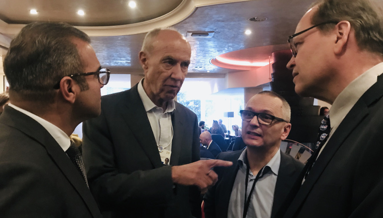 VSSAG's CEO Arman, COO Urs, and WIPO director general Francis Gurry exchanged business cards after having a chat