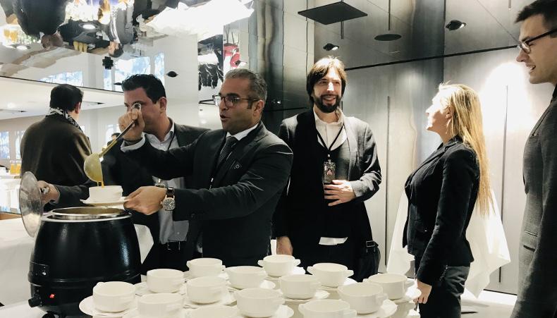 VSSAG's Danilo Panarese, Arman Sarhaddar, Danyele Boland and Vladislav Riggenbach (l-r) with LedgerState's Damir Yandrich (centre)