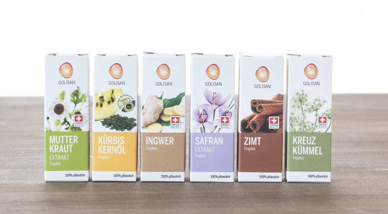 Golisan natural products - certified by Swiss Quality Testing and protected by iVAULT