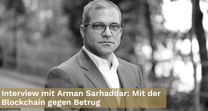 Arman Sarhaddar im Interview, Newfinance Mediengesellschaft