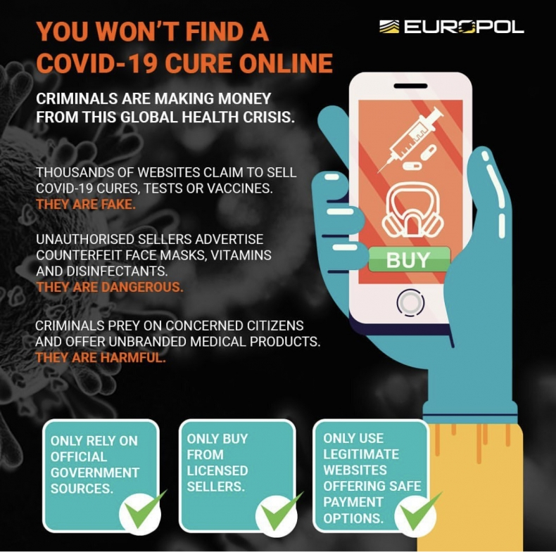 @europol.eu is posting about the current situation: thousands of online sellers and counterfeiters are trying to exploit people fears of coronavirus
