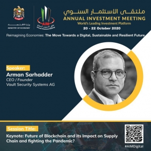 TED Talk on Blockchain Technology in Supply Chain Management at Annual Investment Meeting 2020, Dubai