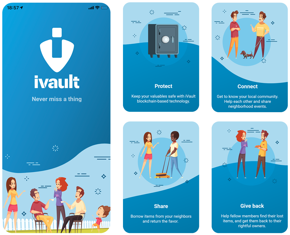 What is ivault? All-in-one Blockchain-based Social Network and Lost & Found App – Global and Local Blockchain for Social Impact making the world a little better one step at a time.